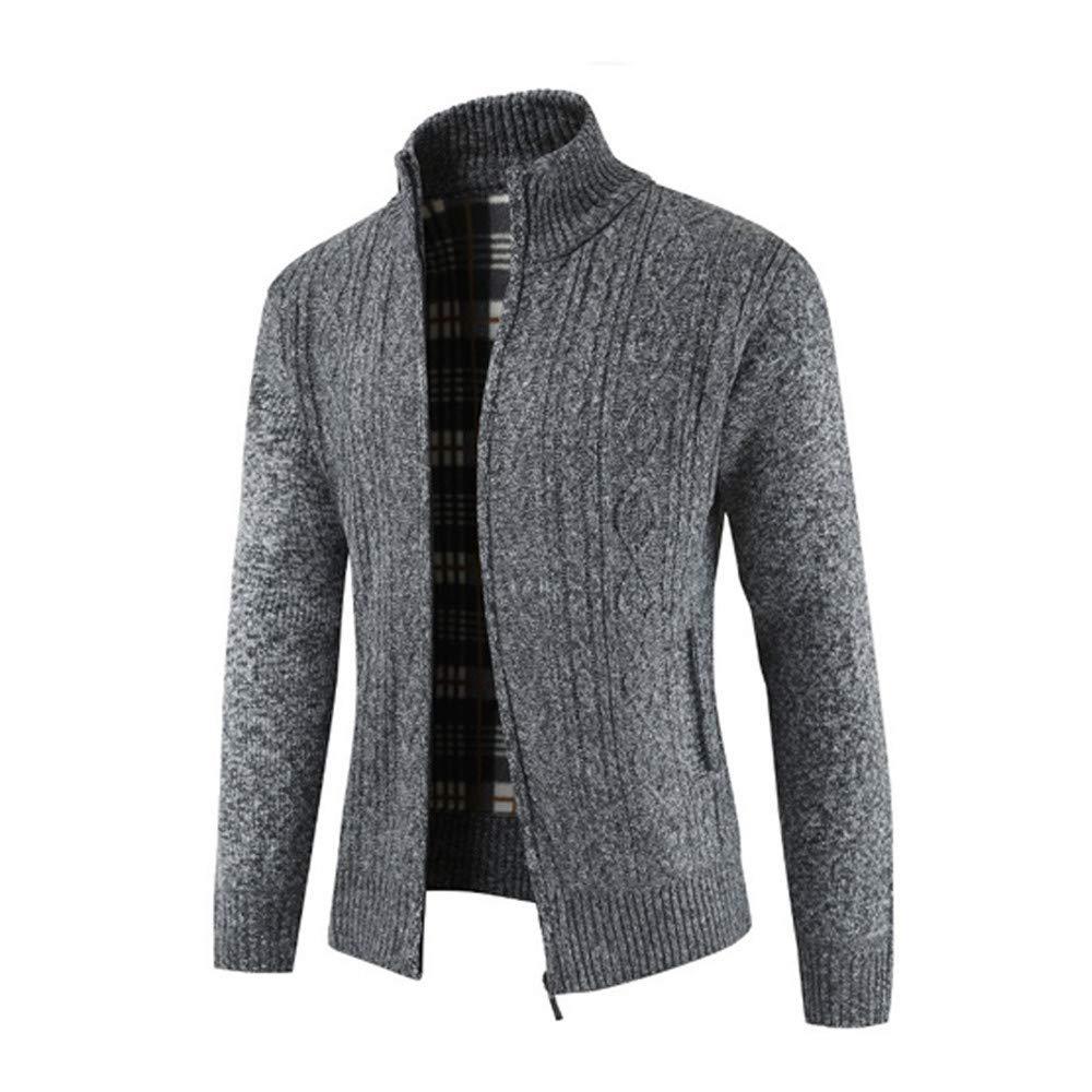 ZODOF Chaqueta de Hombre Mens Winter Zipper Outwear Tops ...
