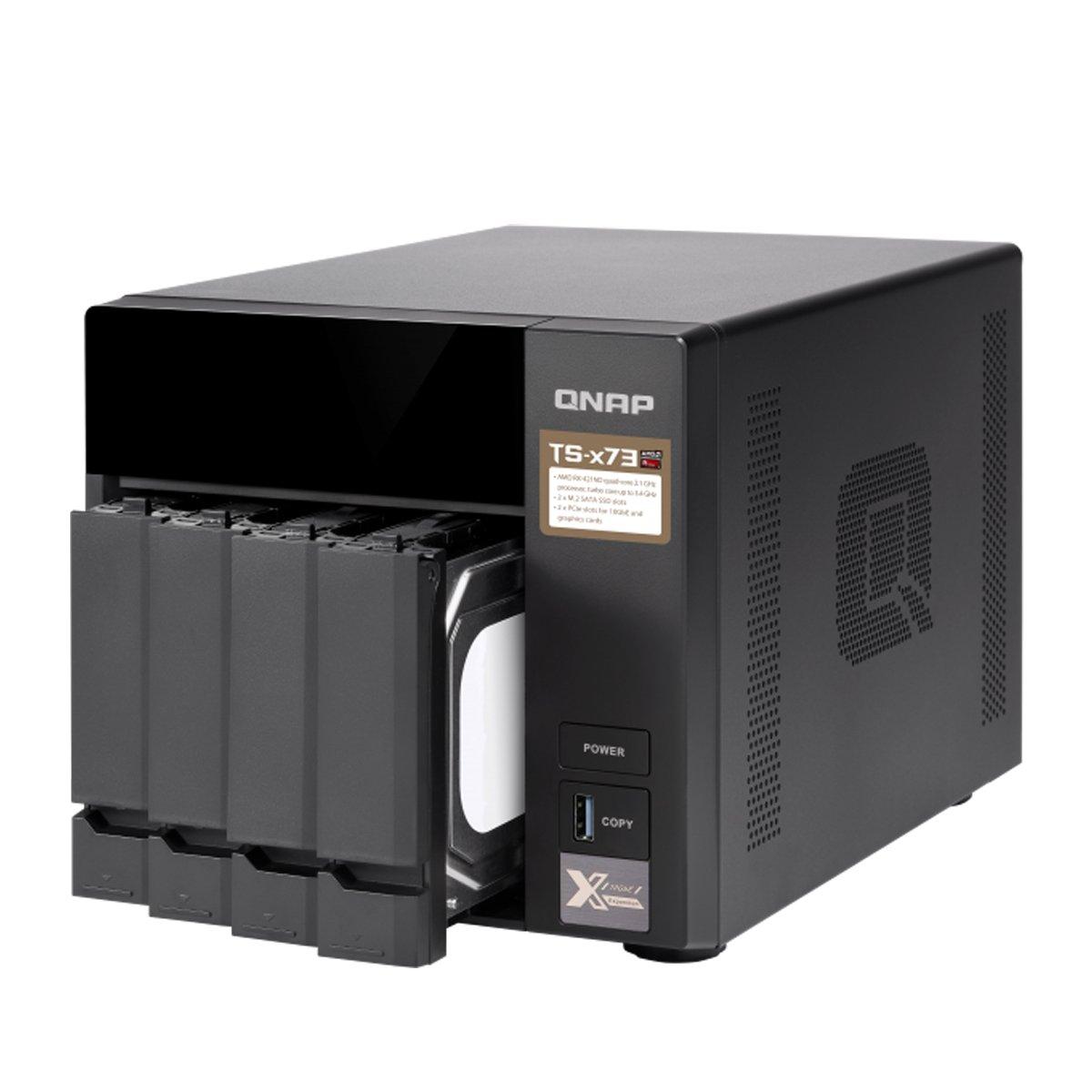 Amazon.com: QNAP TS-873-4G-US 8-Bay NAS/iSCSI IP-SAN, AMD R Series Quad-core 2.1GHz, 4GB RAM, 10G-Ready: Computers & Accessories