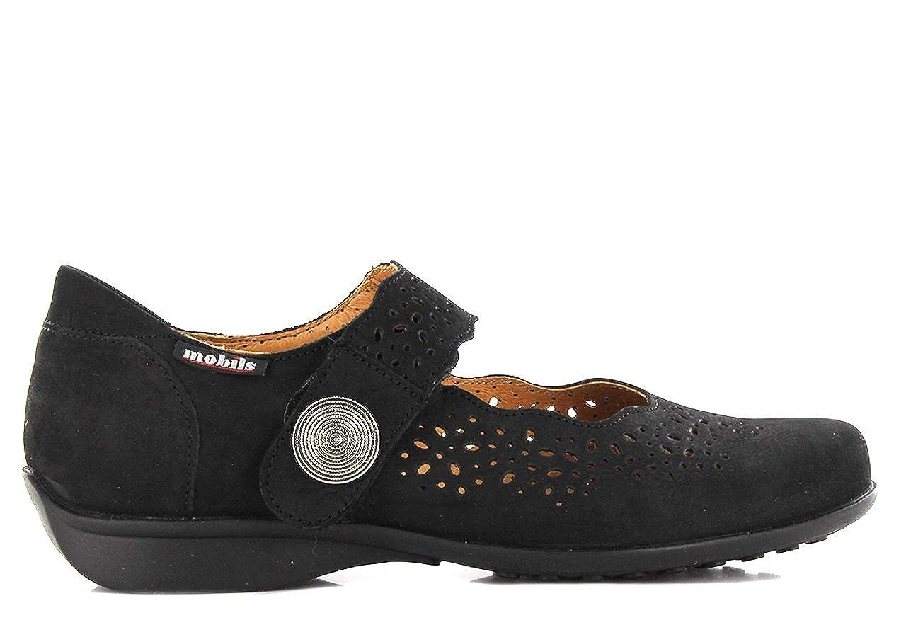 a2f622768c3 Amazon.com | Mephisto Mobils Fabienne Bucksoft Black Nubuck Wide FIT Shoes  Women | Flats