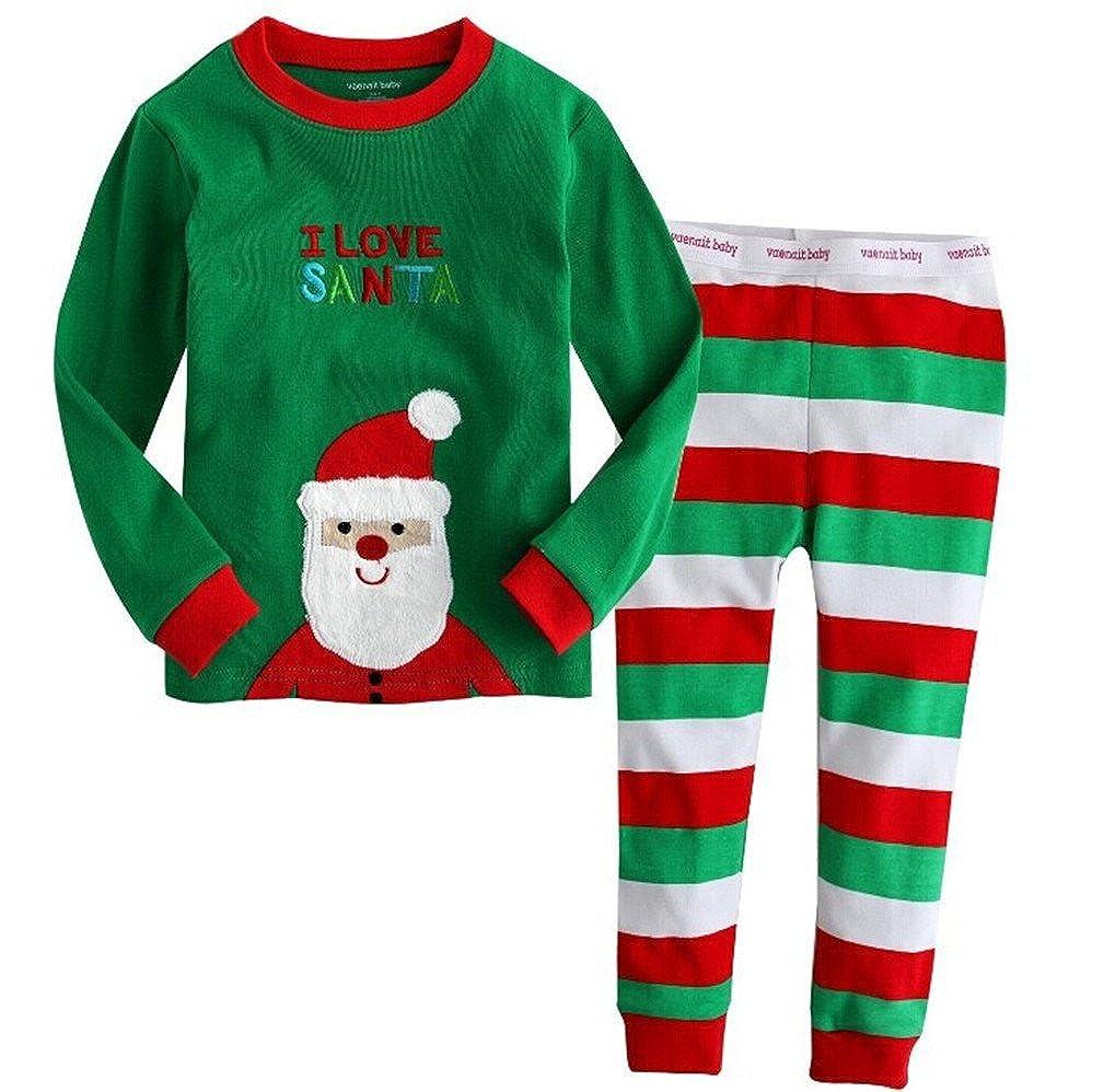 Pyjama pour No/ël pantalon de no/ël costume Kfnire unisexe enfants tops