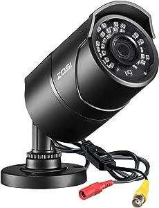 ZOSI 2.0 Megapixel HD 1080P 4 in 1 TVI/CVI/AHD/CVBS Security Cameras Day Night Waterproof Camera 100ft IR Distance, Aluminum Metal Housing,Compatible for HD-TVI, AHD, CVI, and CVBS/960H analog DVR