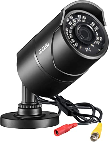 ZOSI 2.0 Megapixel HD 1080P 4 in 1 TVI CVI AHD CVBS Security Cameras Day Night Waterproof Camera 100ft IR Distance, Aluminum Metal Housing,Compatible for HD-TVI, AHD, CVI, and CVBS 960H analog DVR