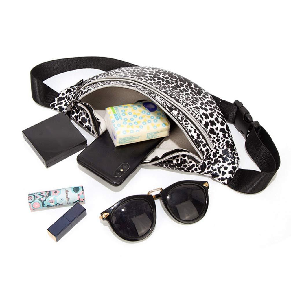 dise/ño de Leopardo Ri/ñonera para Mujer Tendycoco Color Blanco y Negro