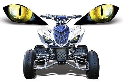 AMR Racing ATV Headlight Eye Graphic Decal Cover For Yamaha Raptor 700 250 350
