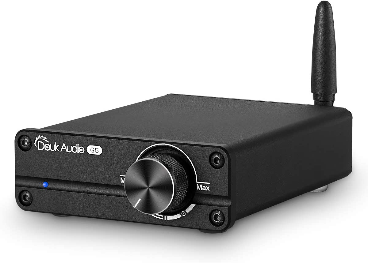 Douk Audio G5 100W Bluetooth 5.0 2 Channel Amplifier Mini Digital Class D Stereo Audio Power Amp Wireless Receiver (Black)