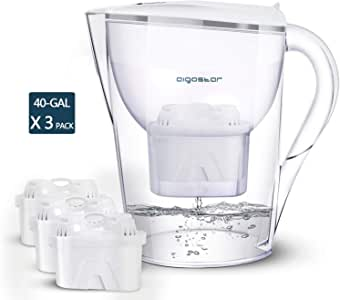 Aigostar Pure 3,5 L jarra de agua con filtro – incl. 3 cartuchos ...