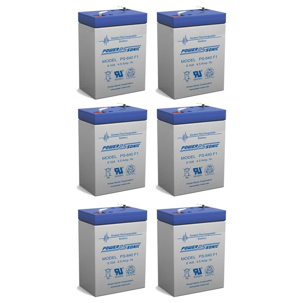 Powersonic 6V 4.5AH SLA Replacement Battery for MK Es4-6sa - 6 Pack
