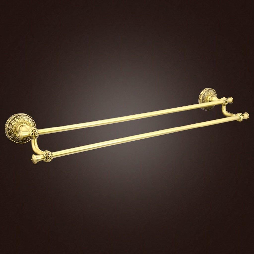 LXN タオルラックダブルレイヤー銅ヨーロッパスタイルレトロブラックファッションシンプルなバスルームバスルーム B07F6WPJQV