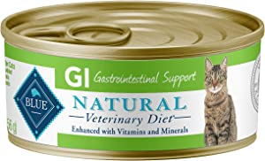 Blue Buffalo Natural Veterinary Diet 801340 Gastrointestinal Support for Cats 5.5oz
