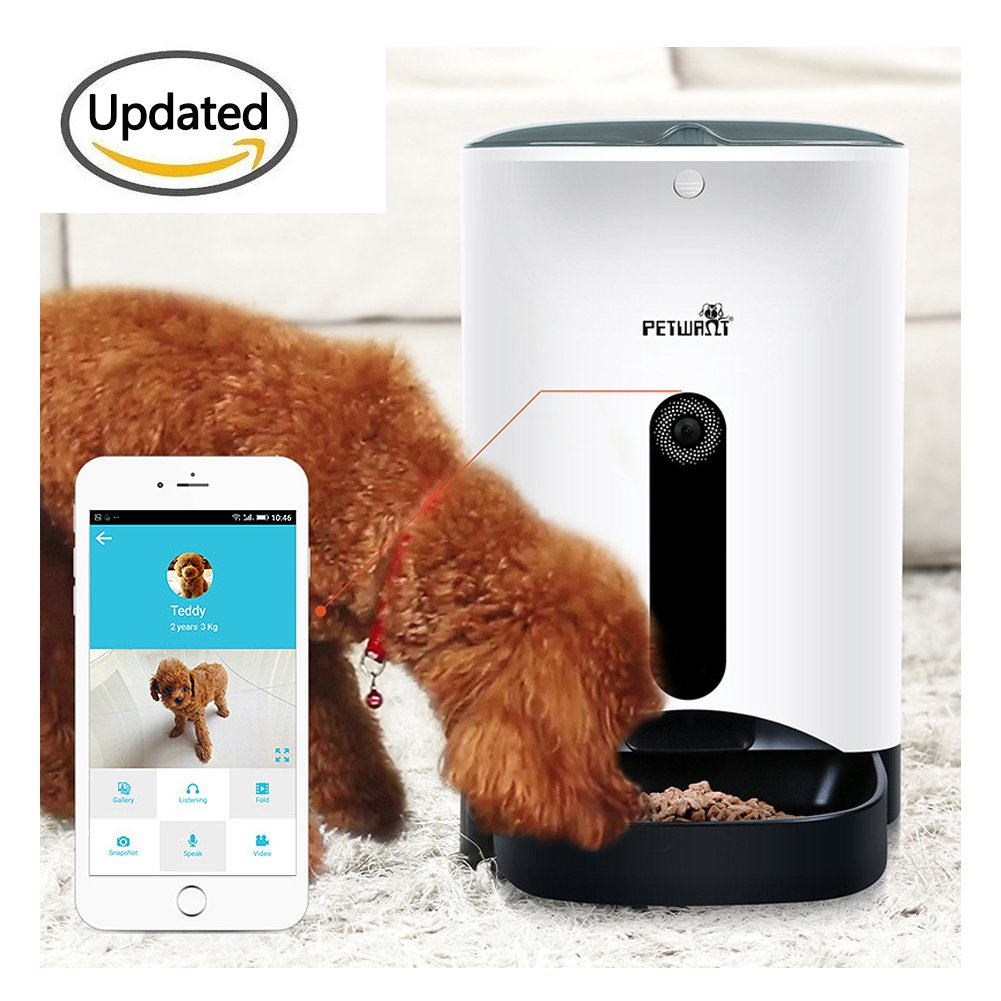 Automatic APP Feeders , Hmlai SmartFeeder APP Automatic Pet Feeder Food Dispenser for Dogs & Cats with your iPhone ipad and Android Phone share- Features Feeding Video, pictures