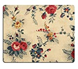 Liili Natural Rubber Mouse Pad Old canvas wallpaper with floral ornaments perfect in detail IMAGE ID 23298536