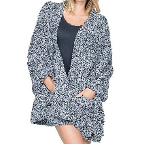 Barefoot Dreams Cozychic Heathered Travel Shawl Indigo/White