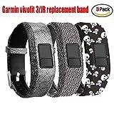 Band for Garmin Vivofit 3 Vivofit JR Vivofit JR. 2-Budesi Colorful Adjustable Replacement Wristband Strap Bands for Garmin Vivofit 3/Vivofit JR/JR. 2 Bracelet(for Kids, Wrist over 135cm at Least)