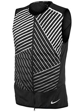 7838128e8 Amazon.com: Nike Mens Aeroloft Flash Reflective Running Vest, Black ...
