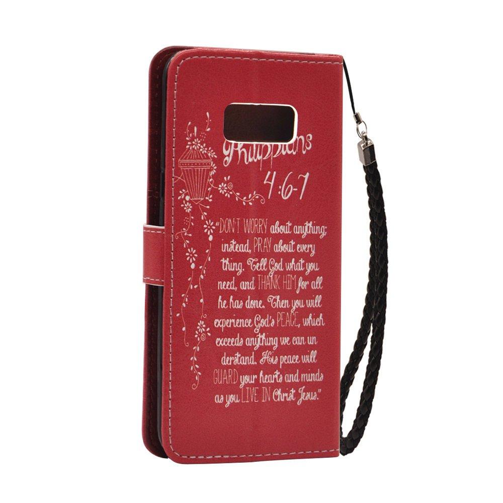Amazon.com: Wallet Case For Samsung Galaxy S8 ,Bible Verses ...