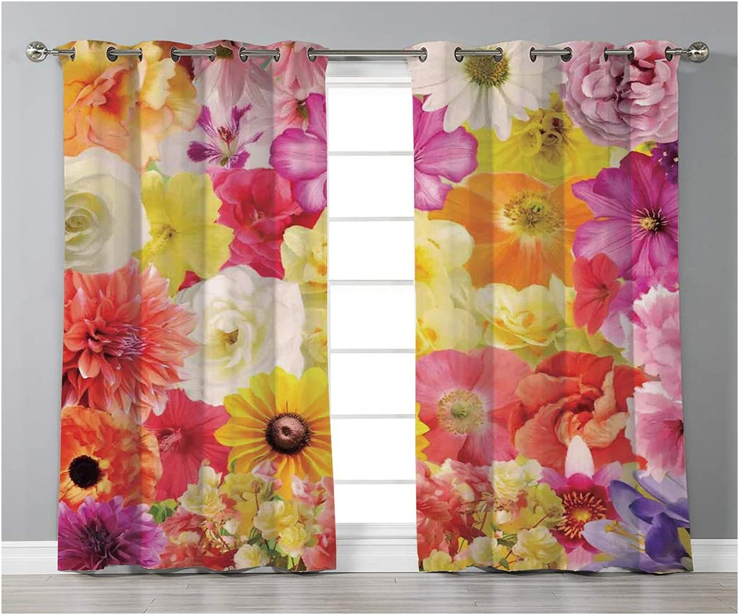 Goods247 Blackout Curtains,Grommets Panels Printed Curtains for Living Room Set of 2 Panels,55 by 95 Inch Length ,House Decor