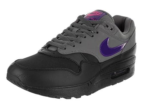 promo code 4dc97 4e3cd Nike Men s Air Max 1 Dark Grey Fierce Purple Black Running Shoe 8.5 Men