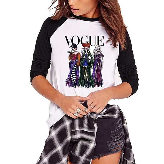 Camisetas de béisbol con Estampado de Princesa Vogue y Camiseta con Mangas raglán de Talla Grande para Mujer: Amazon.es: Ropa y accesorios
