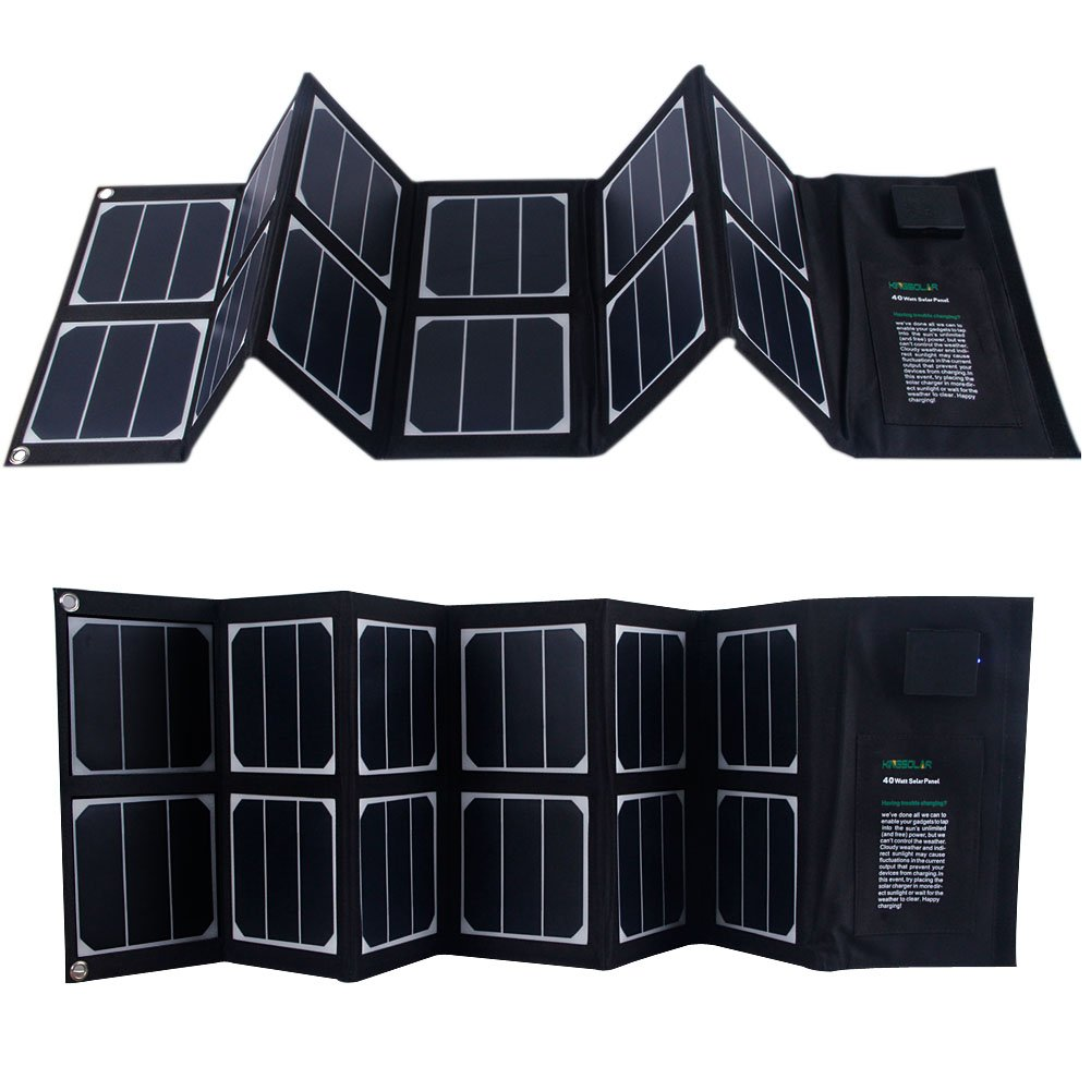 KINGSOLAR™ Highest Efficient 40W Foldable Solar Panel Portable Solar Charger Dual Output (USB Port + DC Output) by KINGSOLAR™