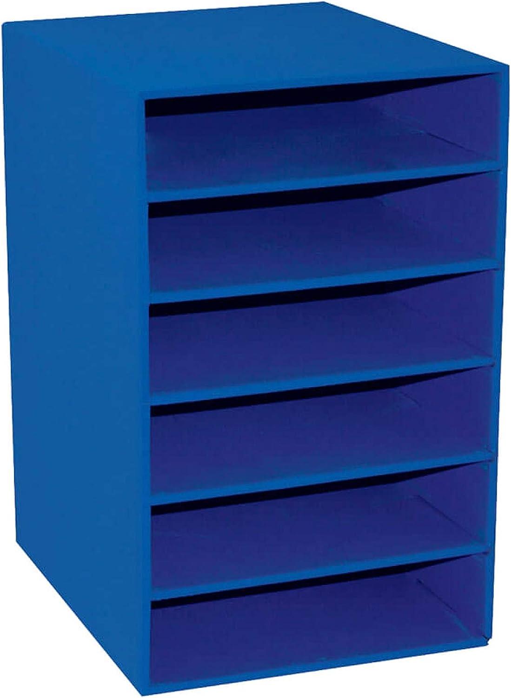 "Classroom Keepers 6-Shelf Organizer, Blue, 17-3/4""H x 12""W x 13-1/2""D, 1"