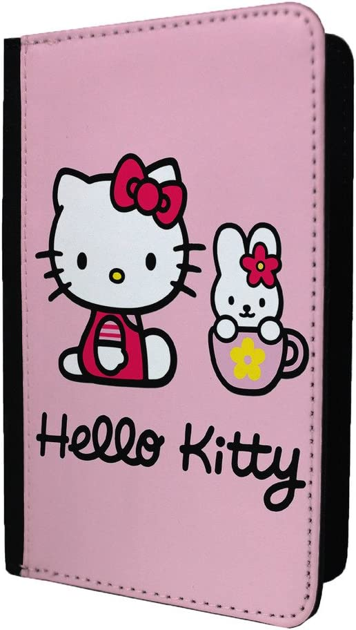 ST-T1456 Accessories4life Hello Kitty and Cathy PU Leather Travel Passport Holder Protector Cover Wallet Case Cover