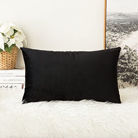 MIULEE Velvet Soft Decorative Square Throw Pillow Case Cushion Interesting Luxury Decorative Bed Pillows