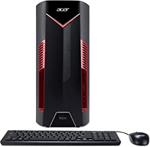 Acer Nitro 50 N50-600-NESelecti7RX580 Desktop, 8th Gen Intel Core i7-8700, AMD Radeon RX 580 Graphics, 8GB DDR4 + 16GB Optane Memory, 1TB HDD, Windows 10 Home