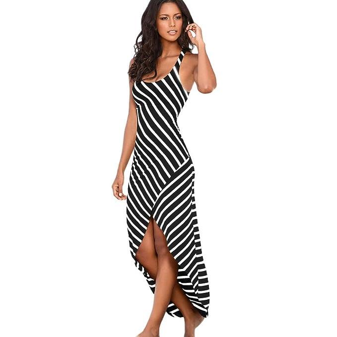 Damen Kleid,Binggong Frauen beiläufiges Sundress Schulterfrei ...