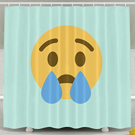Smile Icon Facebook Is The Crying Face Of Emoji Shower Curtain Bathroom Decor