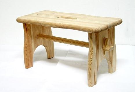Savino fiorenzo poggiapiedi sgabello sedia in legno naturale da