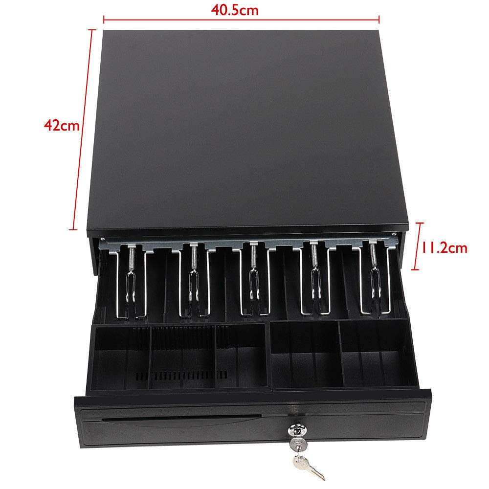 NEW Heavy Duty Cash Till Drawer Box With 5 Bills 5 Coins Tray Removable Insert