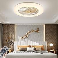 LED-plafondventilator met verlichting Modern Kinderkamer dimbaar72W ventilator plafondlamp Ultrastil onzichtbaar Fan…