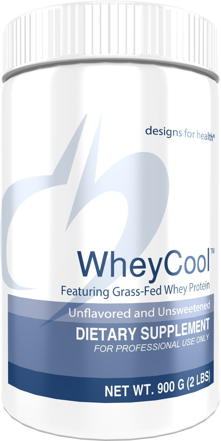 Designs for Health Unflavored + Unsweetened Grass Fed Protein Powder - Whey Cool, 23g of Whey Protein (2 lbs / 30 Servings)