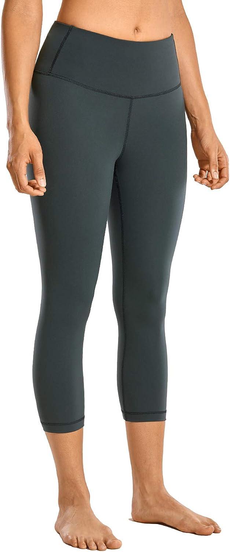 CRZ YOGA High Waisted Athletic Leggings Yoga Pants Women's Workout Capris Leggings with Pocket Luxury Naked Feeling-17 Inches