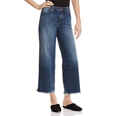 99d9934dd4736 Amazon.com: Eileen Fisher Womens Petites Frayed Wide-Leg Ankle Jeans Blue  8P: Clothing