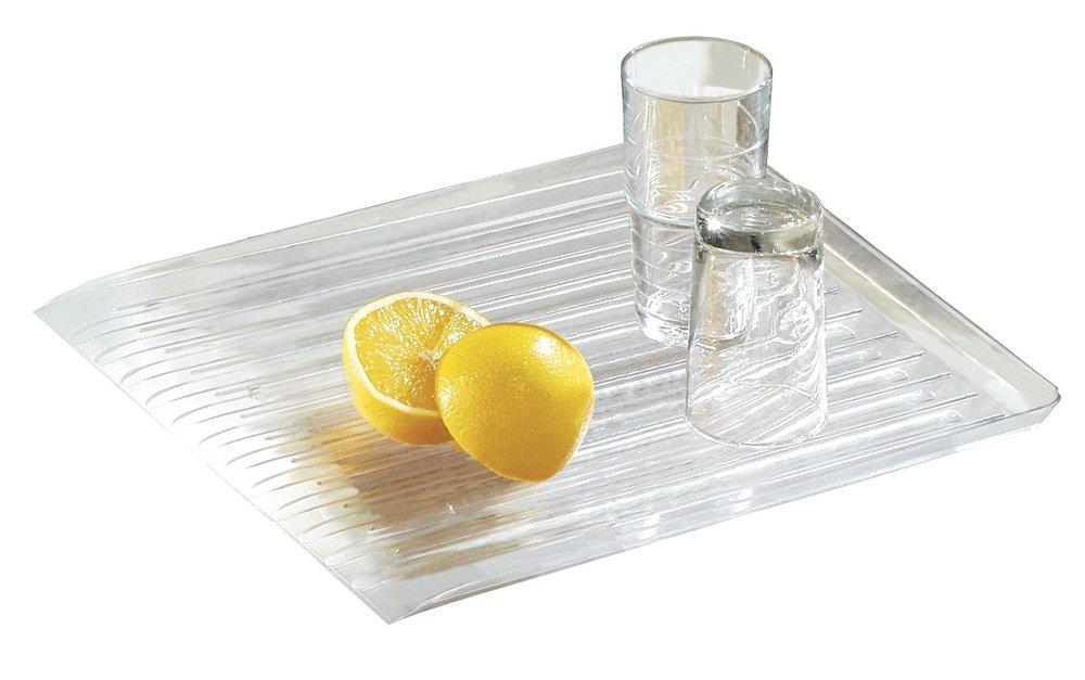 mDesign Scolapiatti per Stoviglie - Gocciolatoio Lavandino e Lavello Cucina - Per asciugare in un attimo pentole, scodelle e padelle - In plastica trasparente MetroDecor 3771MDK