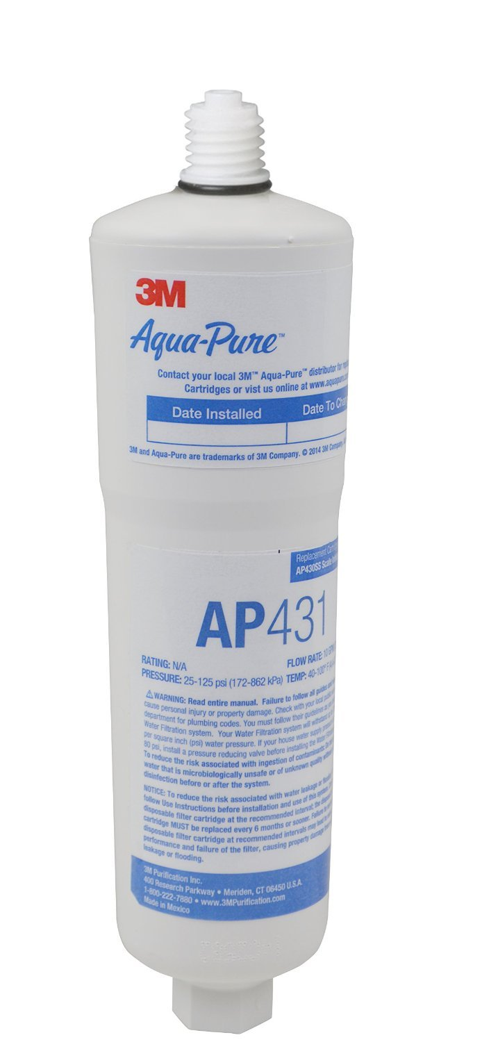 AquaPure AP431 Scale Inhibition Replacement Cartridge, Easy Change High Capacity Water Filter for AP430SS