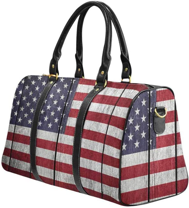 United States of America Flag InterestPrint Carry-on Garment Bag Travel Bag Duffel Bag Weekend Bag Usa