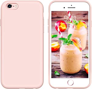 iPhone 6s Plus Case iPhone 6 Plus Case Liquid Silicone, GUAGUA Soft Gel Rubber Slim Lightweight Microfiber Lining Cushion Texture Shockproof Protective Phone Cases for iPhone 6 Plus/6s Plus Pink