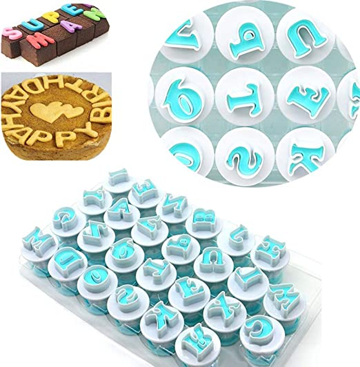 26 Alphabet Number Letter Cookie Biscuit Stamp Mold Cake Cutter Fondant Mould