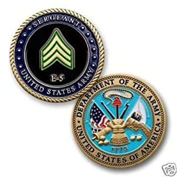 Amazon.com: Army E5 Sgt. Coin: Toys & Games