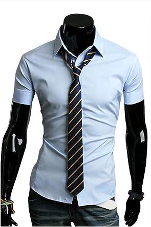 Kayhan - Camisa Casual - Básico - para Hombre Azul Claro XX-Large: Amazon.es: Ropa y accesorios