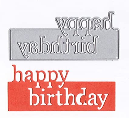Metal Cutting Dies Happy Birthday Words Stencil Scrapbooking Cards Craft DIY