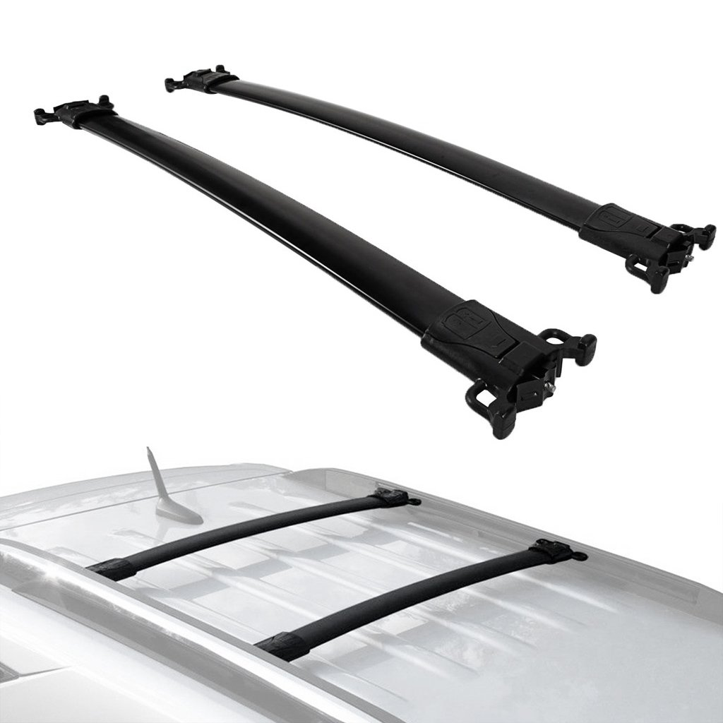 ALAVENTE Roof Rack Cross Bars Crossbars System Compatible for Chevrolet Chevy Equinox/GMC Terrain 2010 2011 2012 2013 2014 2015 2016 2017 2018 (Pair, Black)