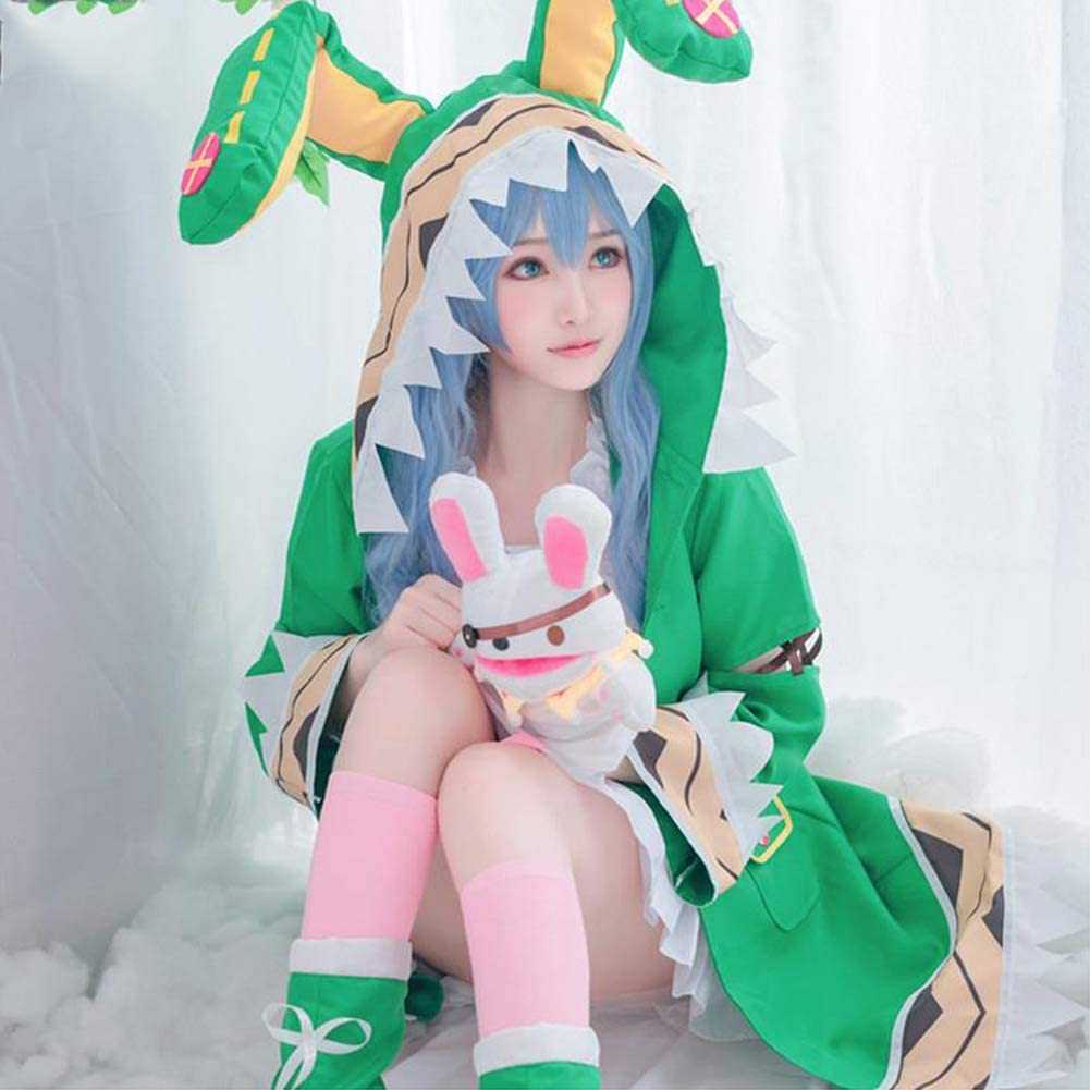 FDSEP Date A Live Himekawa Yoshino Cosplay Costume with Ropa + cubrezapatos + Calcetines + Peluca + marioneta de Mano