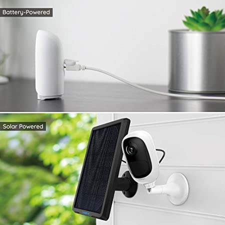 an image showing a Reolink Argus Solar Powered Security Camera and a battery powered security camera