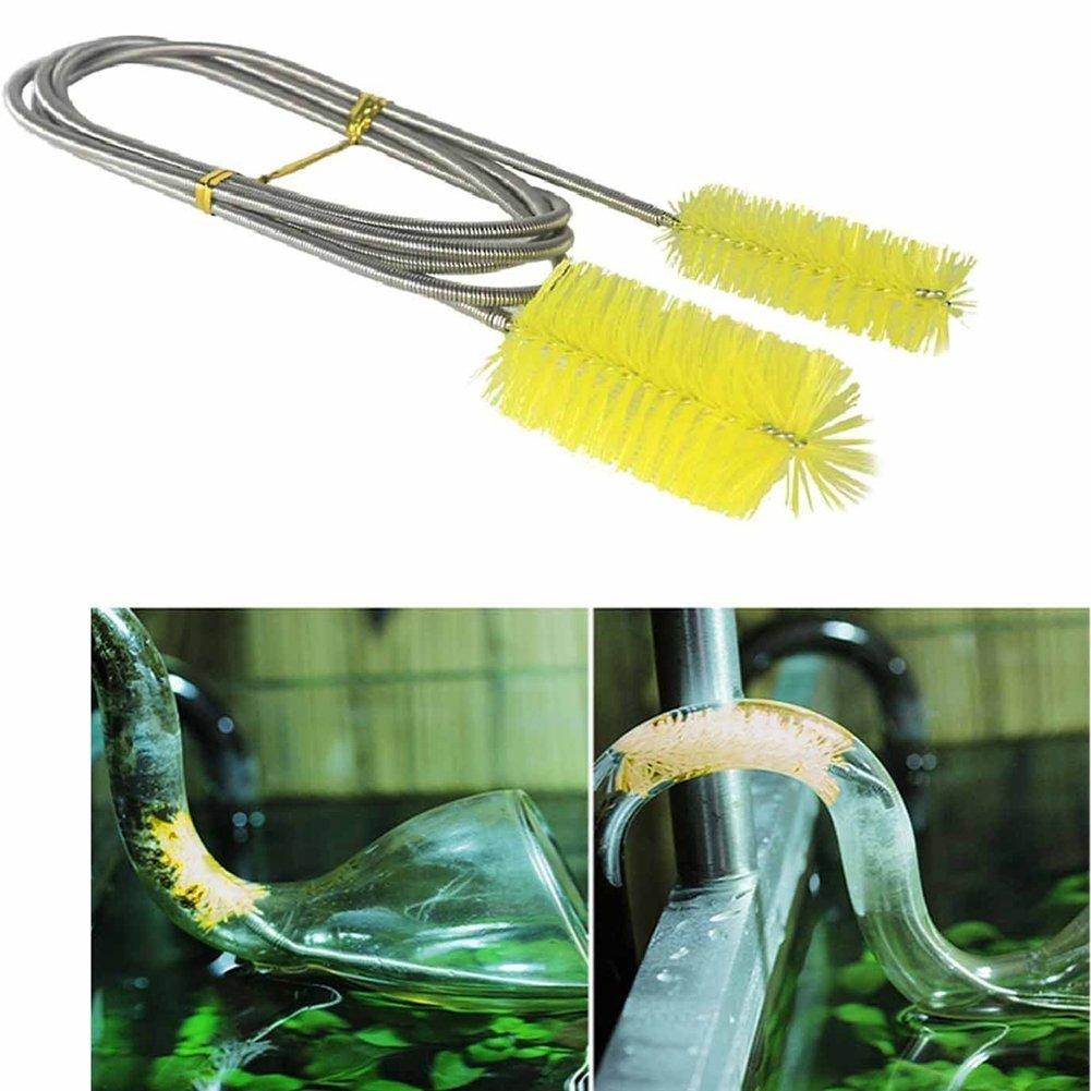 Cepillo de limpieza de acuario de doble punta de 155 cm para limpieza de peces, tubos de tanque y filtros de tuberías DreamColor