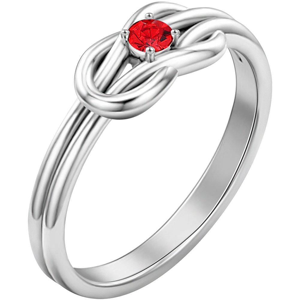 SOUFEEL Promise Rings For Her Sterling Silver Ring Custom Engagement Rings Size 7 by SOUFEEL (Image #2)