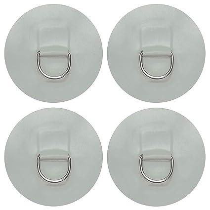 paquete de 4) 1.1 pulgadas D-Ring Pad/parche de acero ...