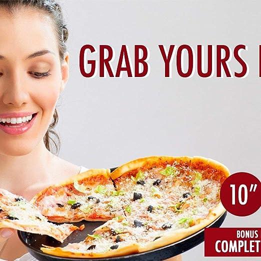 Antihaftbeschichtung 20 x 23 x 25 cm 8 Zoll Chanhan Pizza-Pfanne 20,32 cm Karbonstahl
